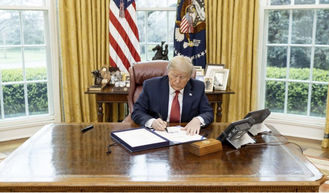 President Trump signing order
