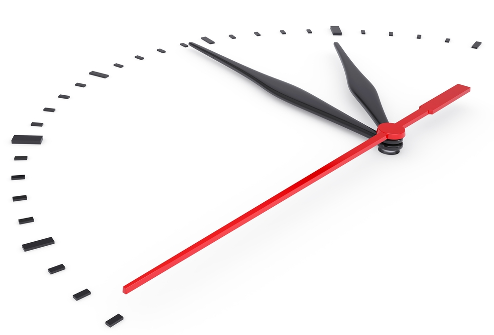 Time passing on clock